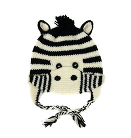 Minga Imports Kids Zebra Hat with Mask