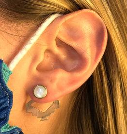 Incan Ear Jacket Stud Earrings