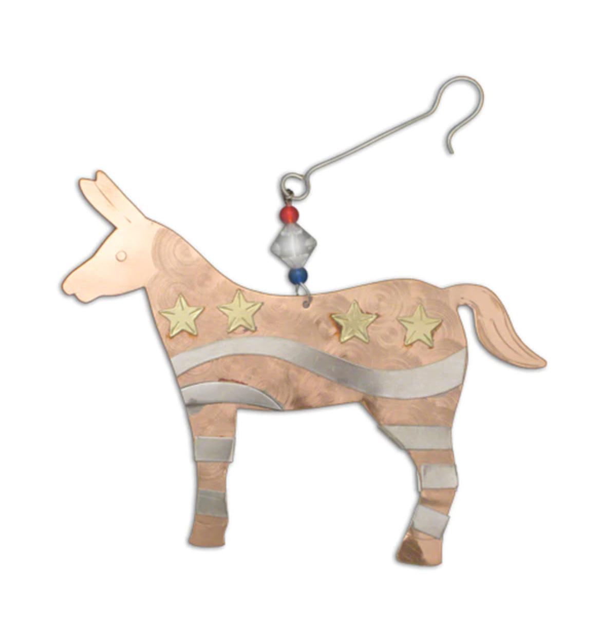 Democratic Donkey Ornament