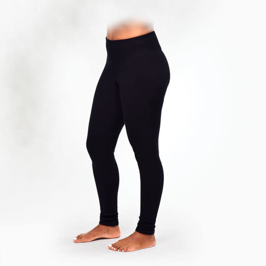 Maggies Organics Black Fleece Leggings