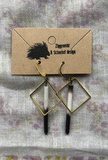 Ziggywear Diamond Quill Earrings