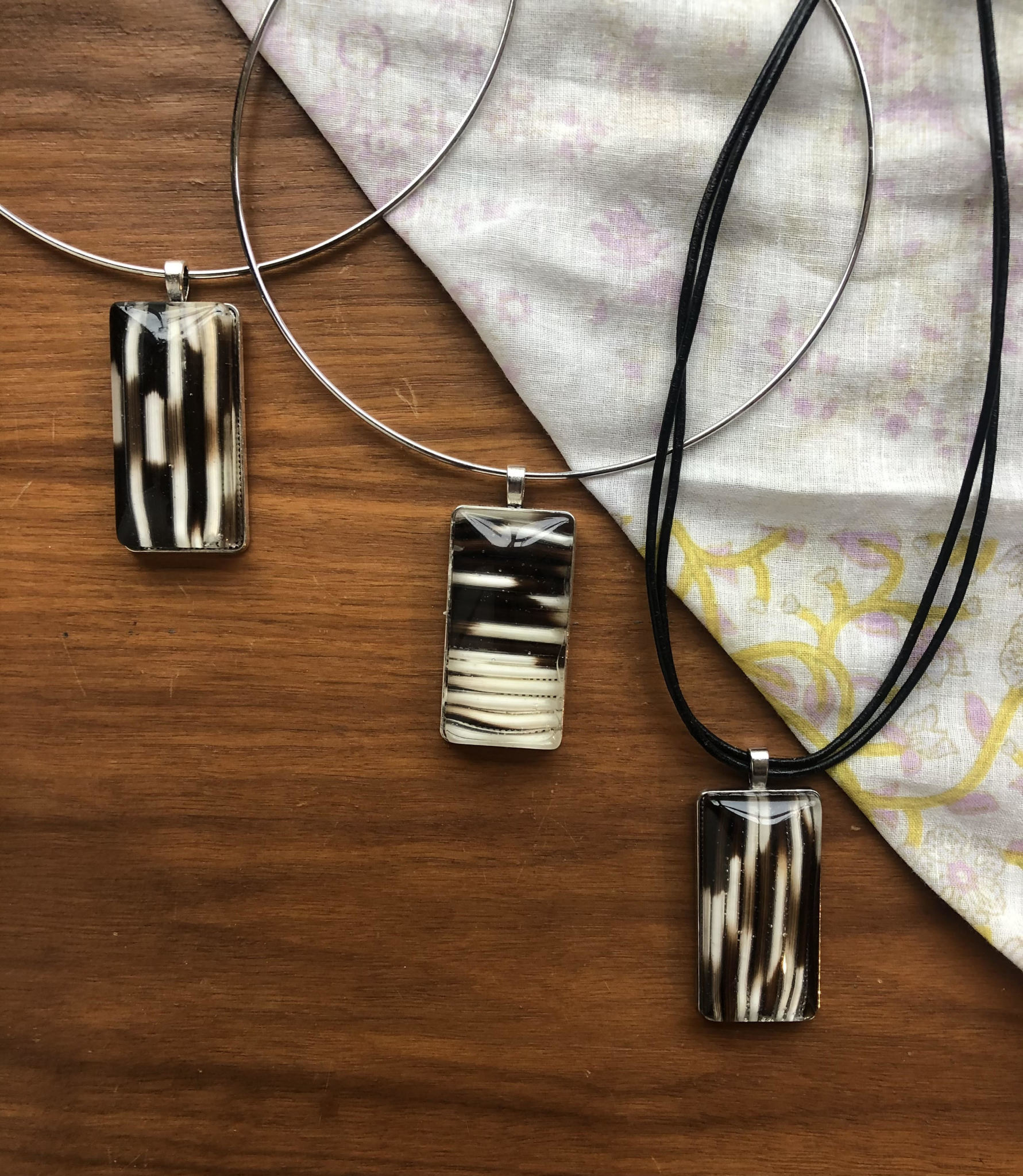 Ziggywear Rectangle Resin Necklace