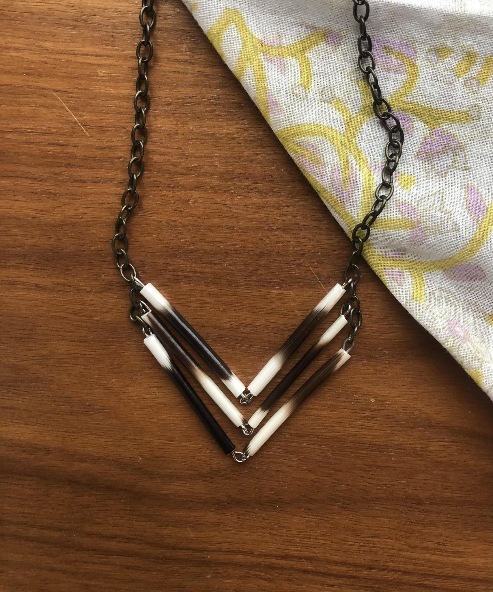 Ziggywear Chevron Quill Necklace