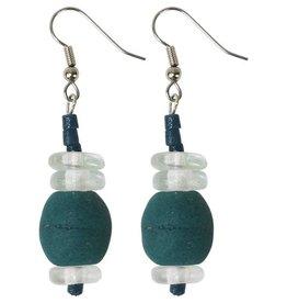 Global Mamas TS Abacus Earrings Teal