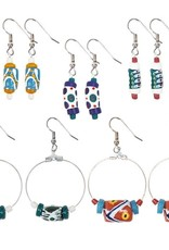 Global Mamas TS Hand Painted earrings each