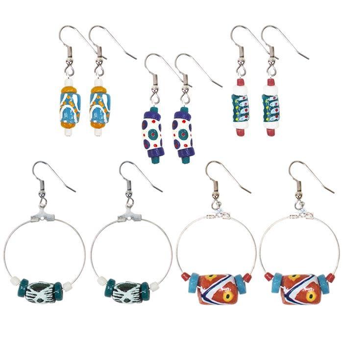 Global Mamas hand painted earrings each