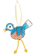 Global Mamas TS Beaded Blue Bird Ornament