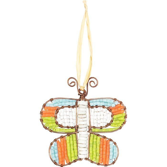 Global Mamas TS Beaded Butterfly Orange