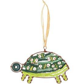 Global Mamas TS Beaded Turtle Green Ornament
