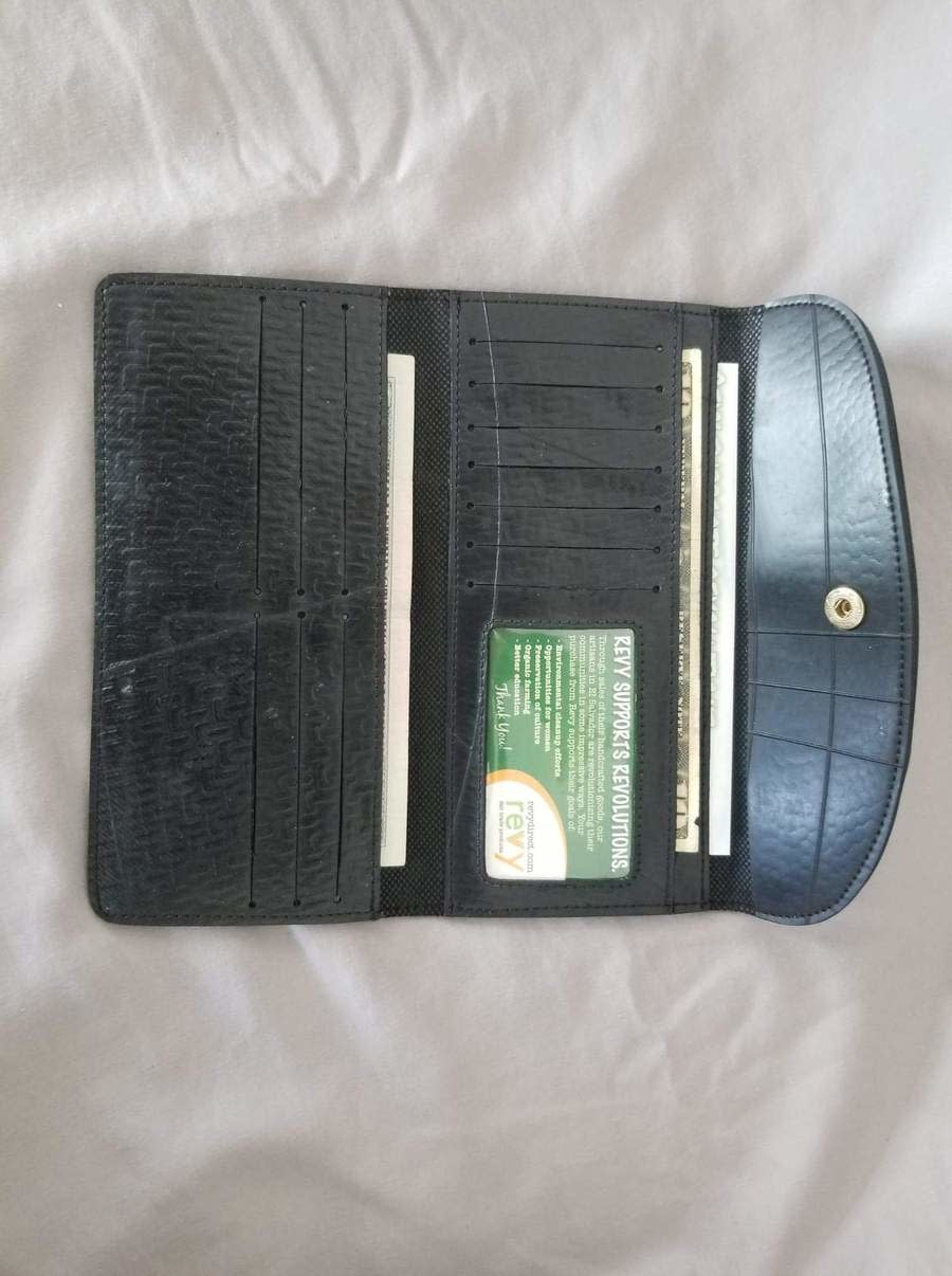 Revy Fair Trade Recycled Tire Long Snap Wallet