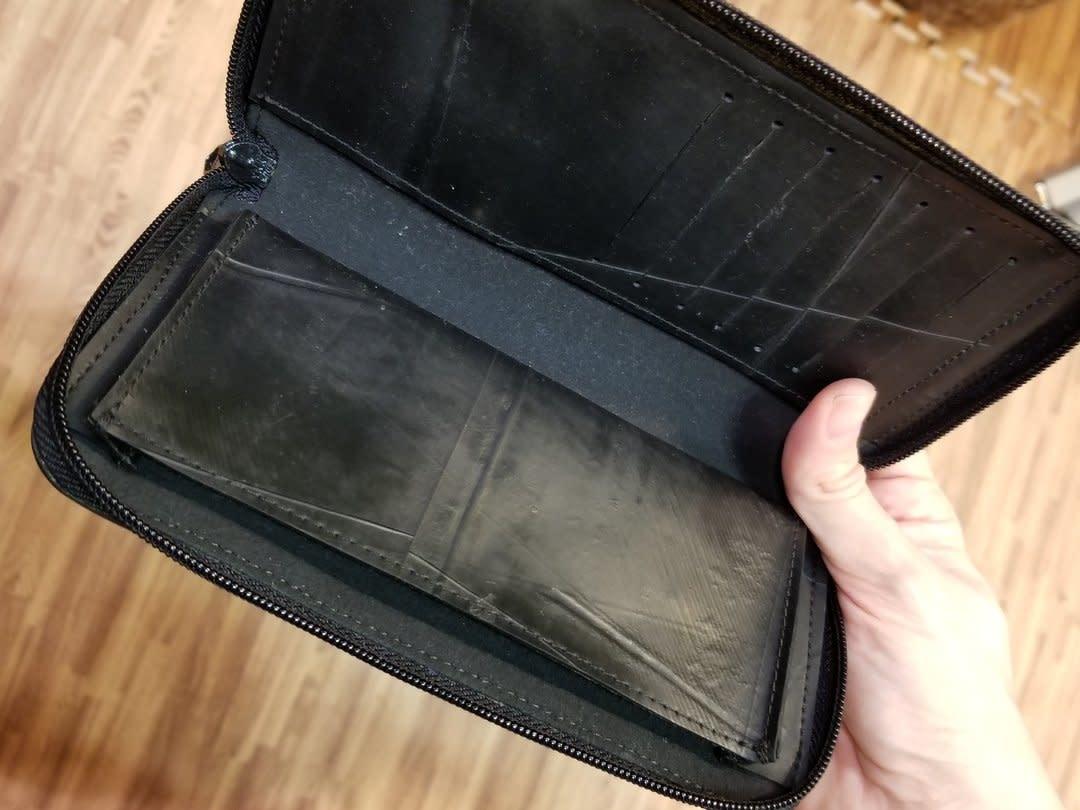 Revy Fair Trade Recycled Tire Long Zipper Wallet