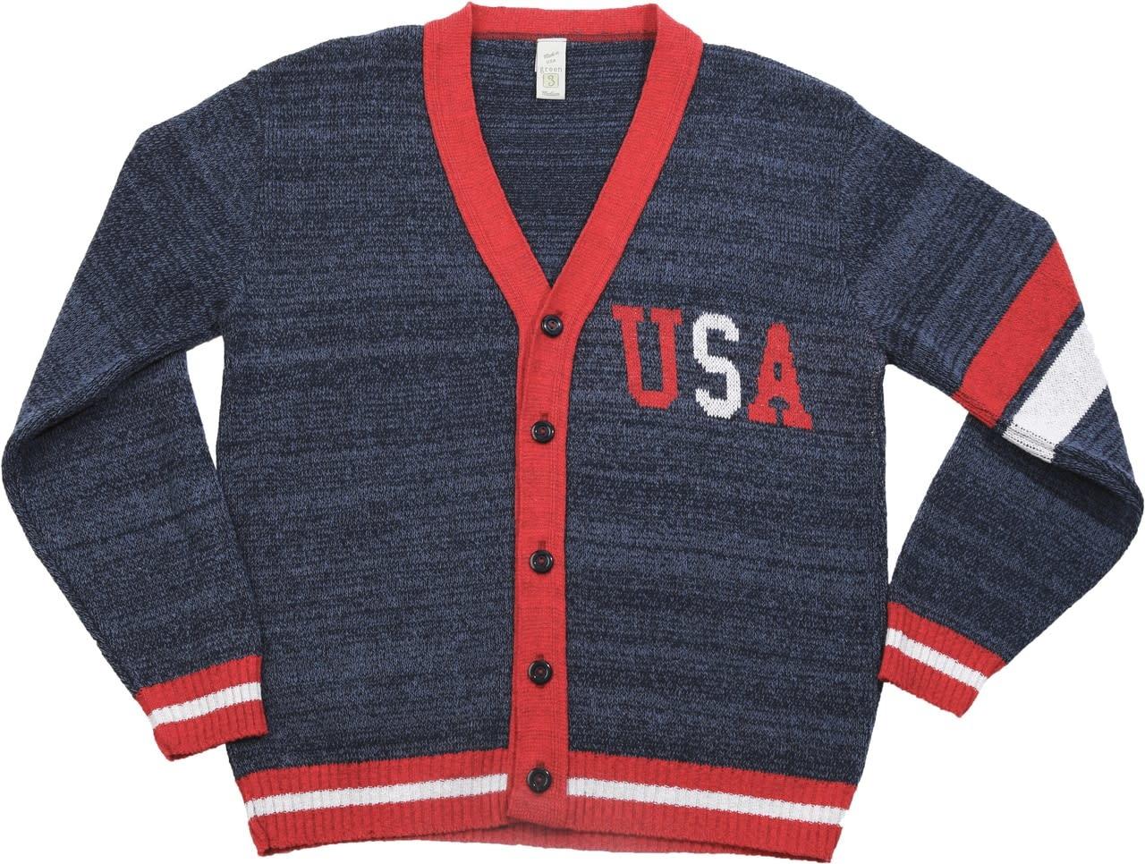 Green 3 Apparel American Letterman Sweater
