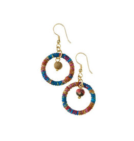 SERRV Cool Shana Twisted Sari Earrings