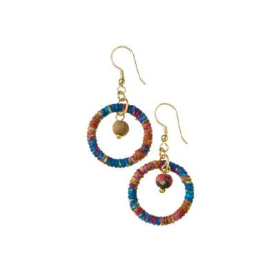 SERRV Cool Shana Twisted Sari Earrings