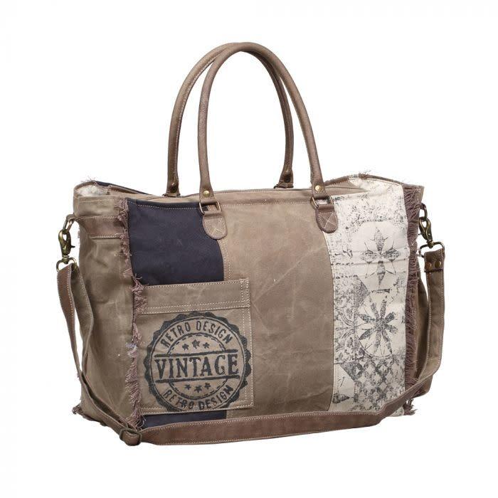 Myra Bag Retro Print Weekender Bag