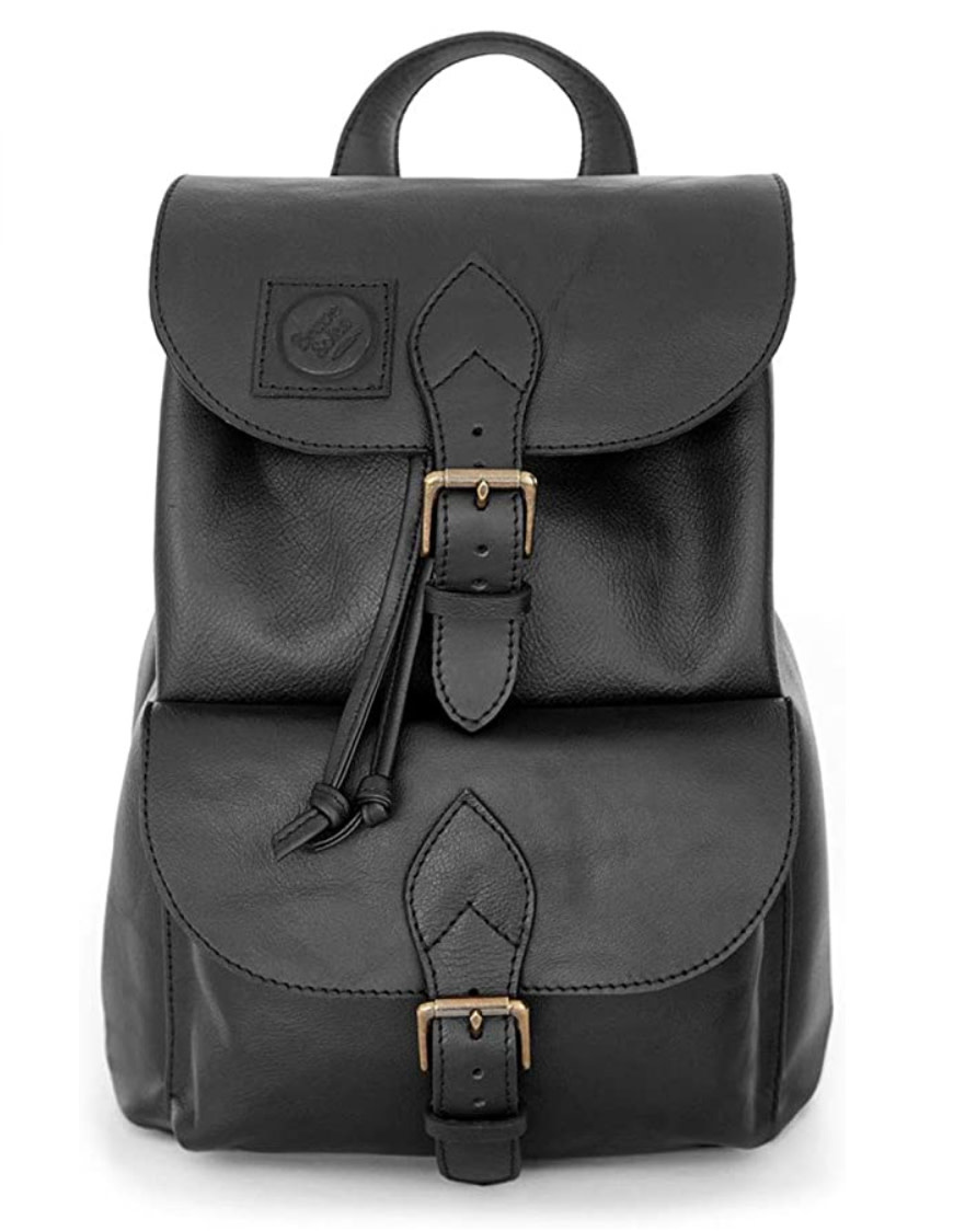 Leather & Recycled Tire Backpack