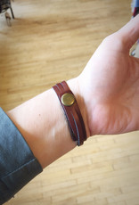 Ziggywear Quill Leather Wrap Bracelet