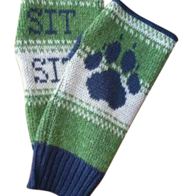 Green 3 Apparel Sit Stay Dog Paw Handwarmers (Green)