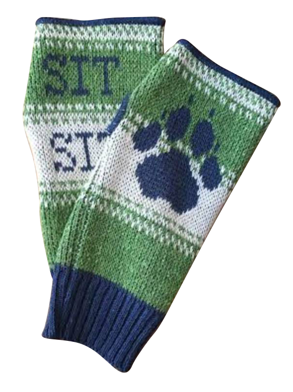 Green 3 Apparel Sit Stay Dog Paw Handwarmers (Green)