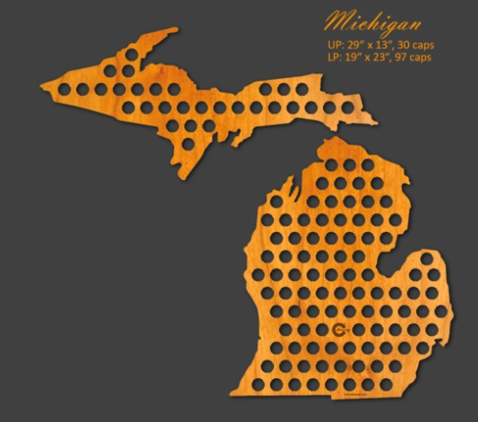 Beer Cap Maps Michigan Beer Cap Map
