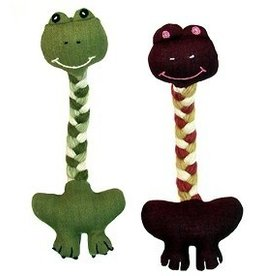 Upavim Crafts Long Neck Frog Dog Toy