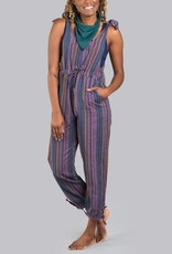 Soul Flower Stripped Hippie Overalls
