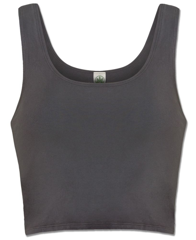 Soul Flower Organic Cotton Fitted Cropped Top Tank