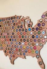 Beer Cap Maps USA Map