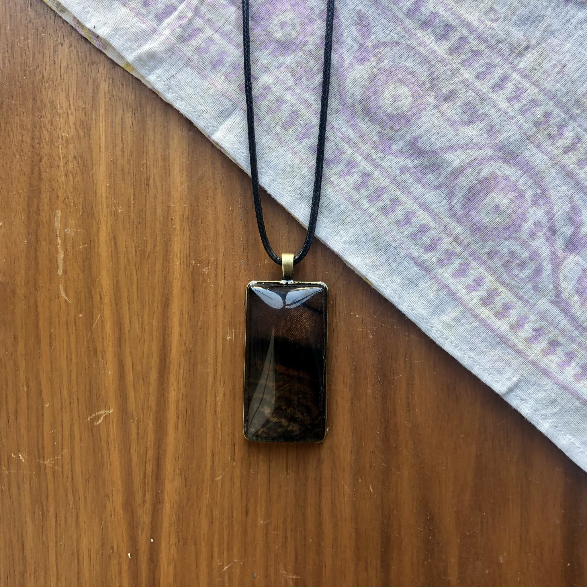 Ziggywear Rectangle Feather Necklace