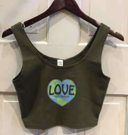 Soul Flower Love Your Mother Earth Organic Cotton Cropped Top Tank
