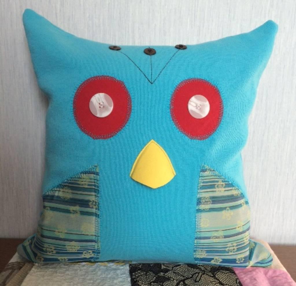 Green 3 Apparel Reclaimed Animal Pillow - Blue Bird
