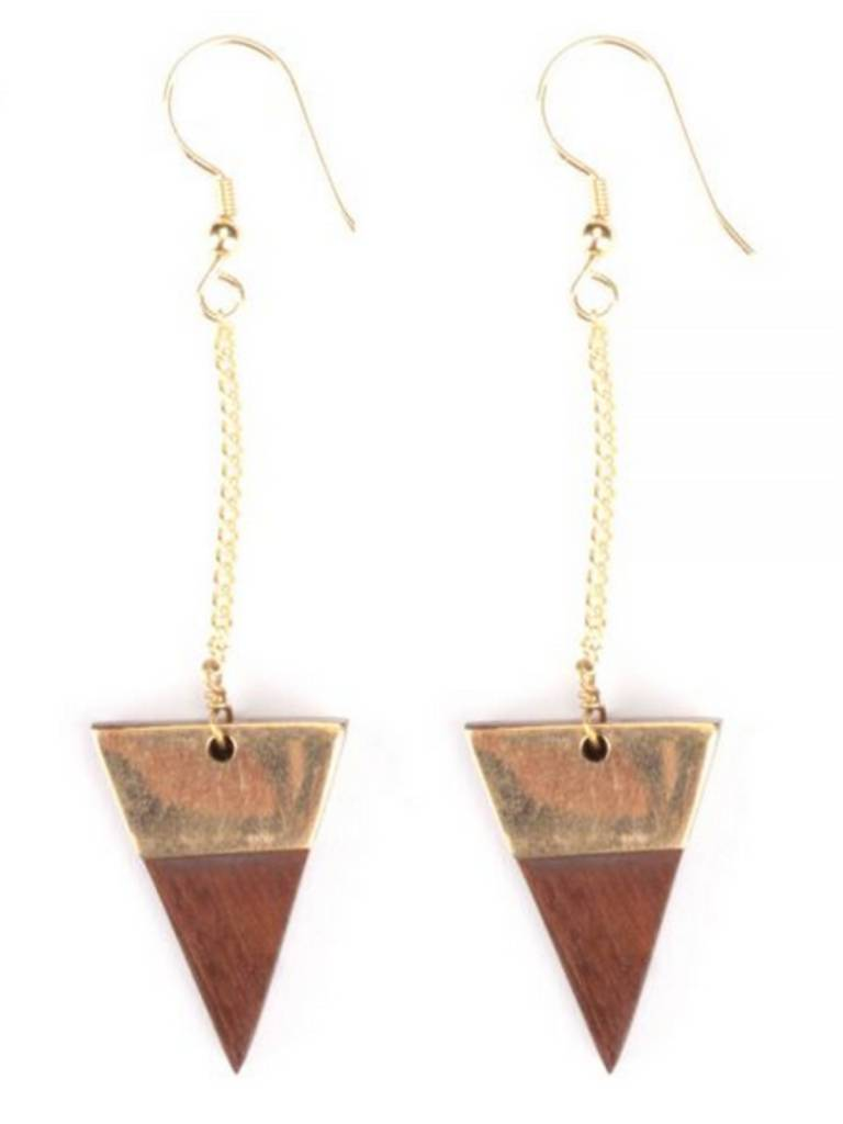 Mata Traders Trailing Triangle Earrings
