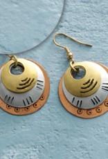 SERRV Triple Disc Earrings