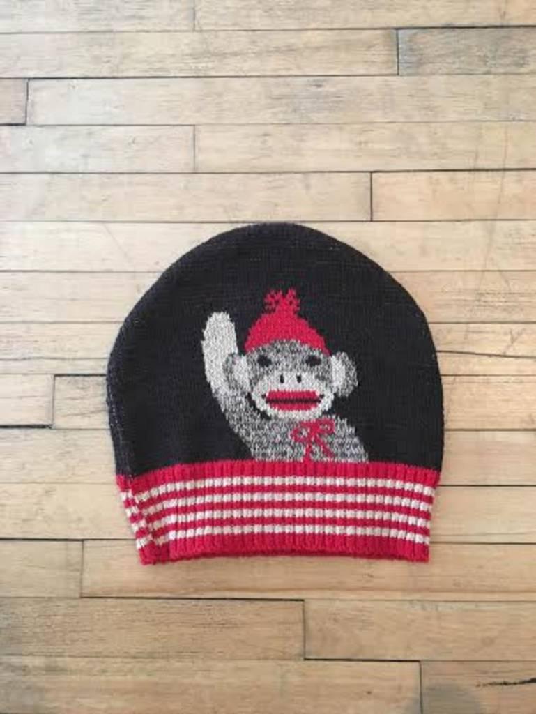 Green 3 Apparel Sock Monkey Skull Cap