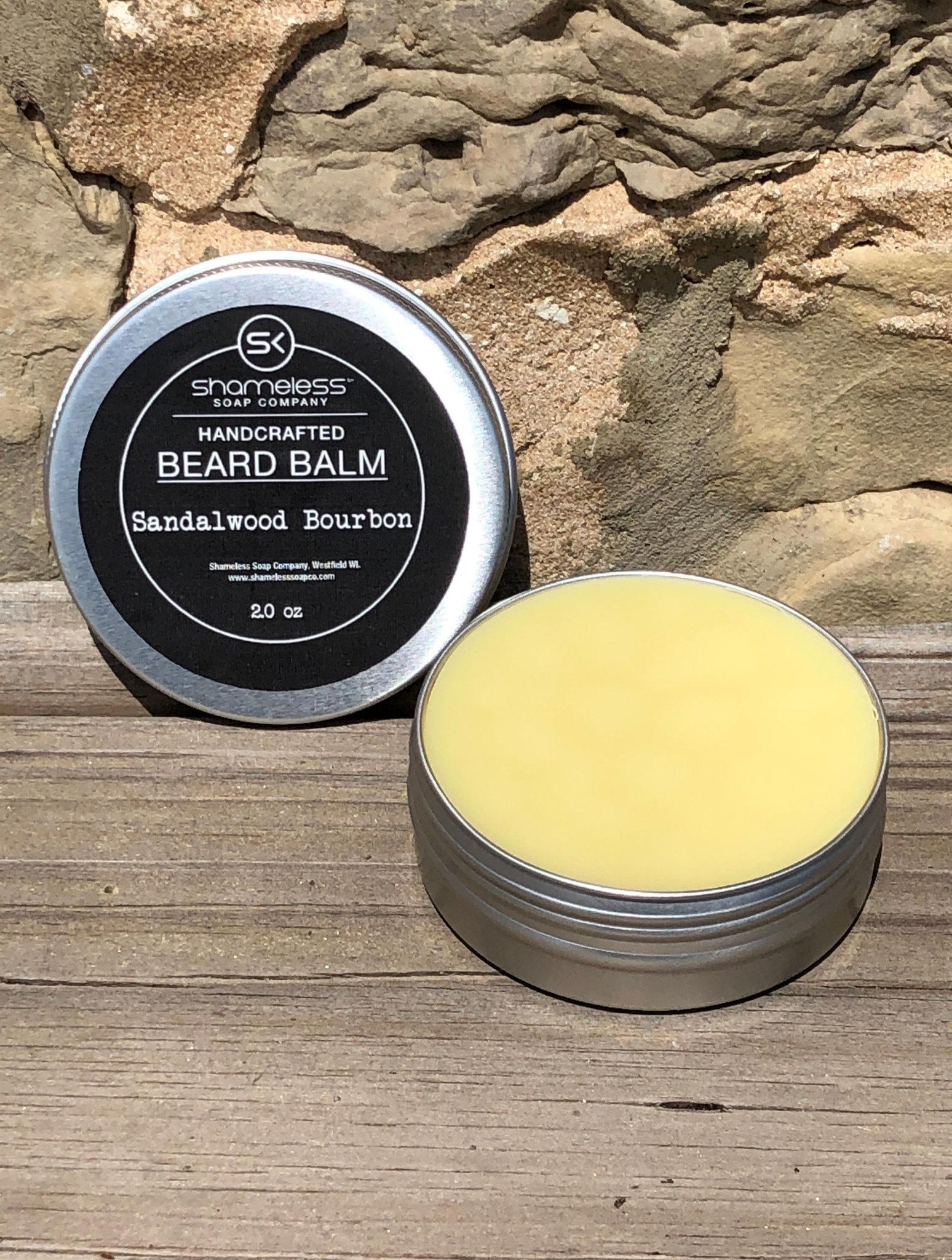 Shameless Soap Co Sandalwood Bourbon Beard Balm