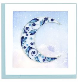 Quilling Card Crescent Moon Quilling Card