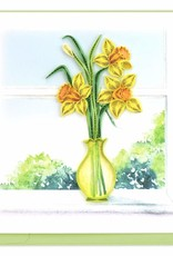 Quilling Card Daffodil Vase Quilling Card