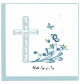 Quilling Card Sympathy Cross Quilling Card