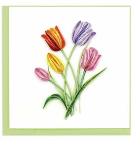 Quilling Card Colorful Tulips Quilling Card