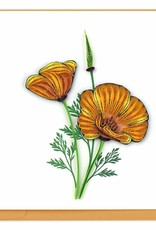 Quilling Card Yellow Poppies Quilling Card