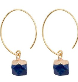 Clara - Chic Brass and Stone Earrings