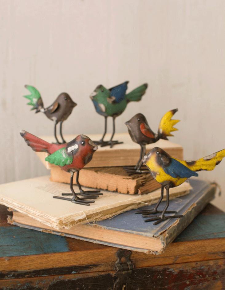 Kalalou Recycled Metal Bird
