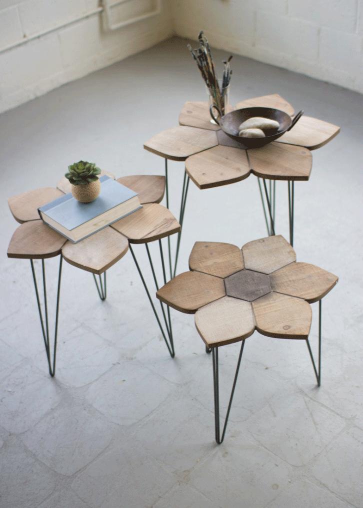 Kalalou Flower Side Table