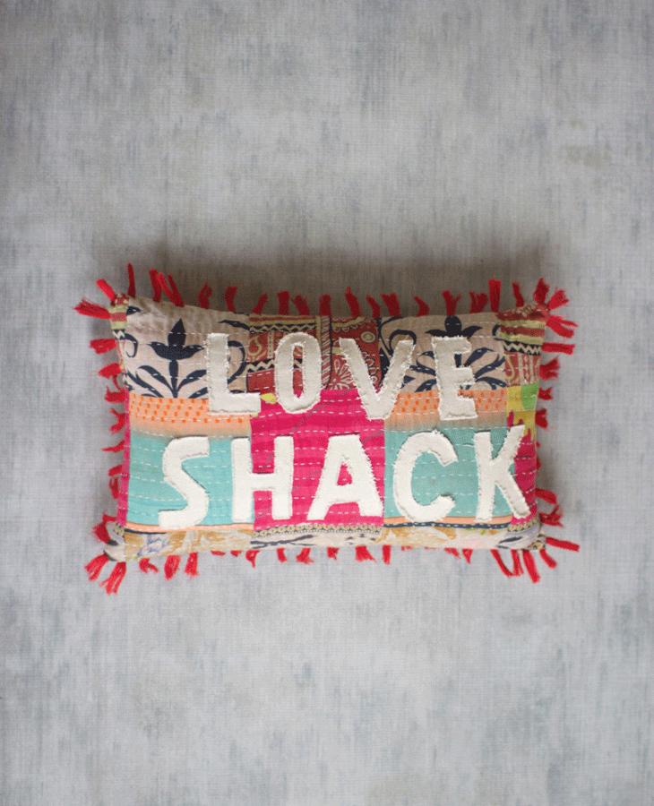 Kalalou Love Shack Pillow