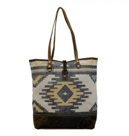 Myra Bag Yellow Patchy Tote Bag