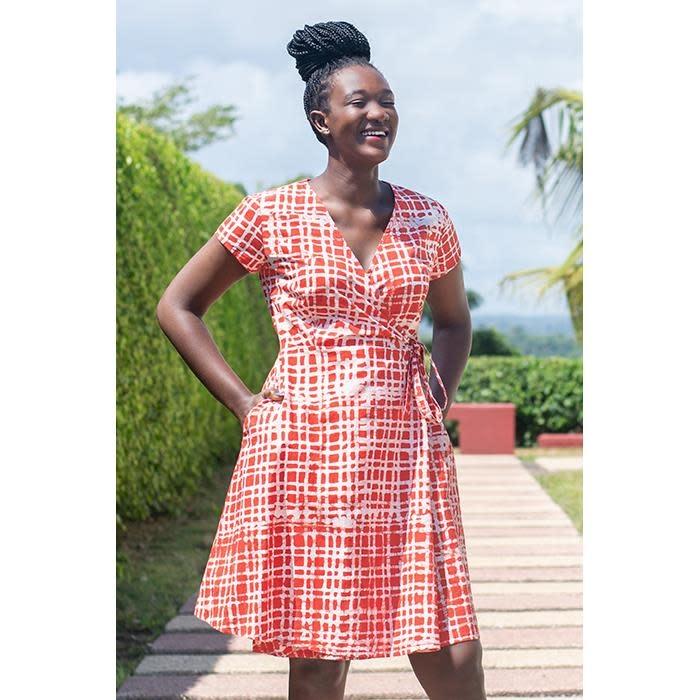 Global Mamas TS 3/4 Sleeve Wrap Dress