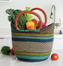 SERRV Grasslands Boat Basket
