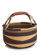 SERRV Round Navy Nautilus Bolga Basket