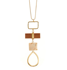 SERRV Long Teardrop Pendant Necklace