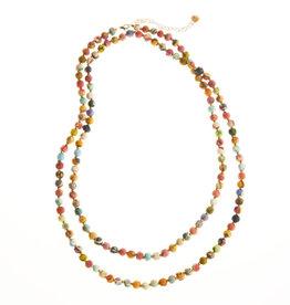 SERRV Long Multi Sari Bead Necklace